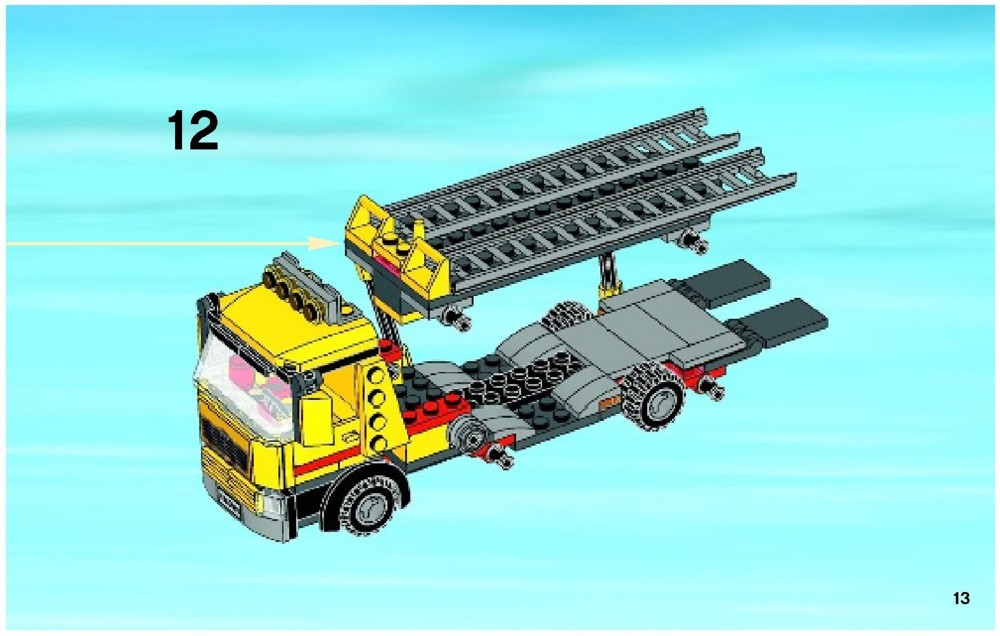 lego city auto transporter instructions