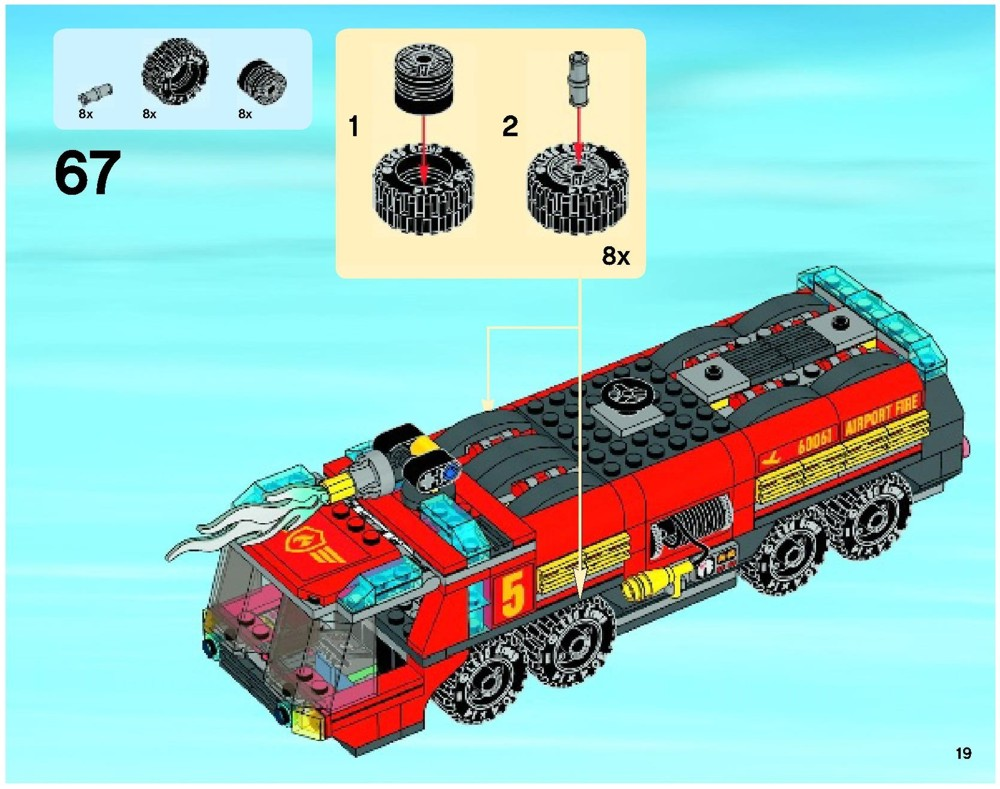 lego airport fire truck instructions