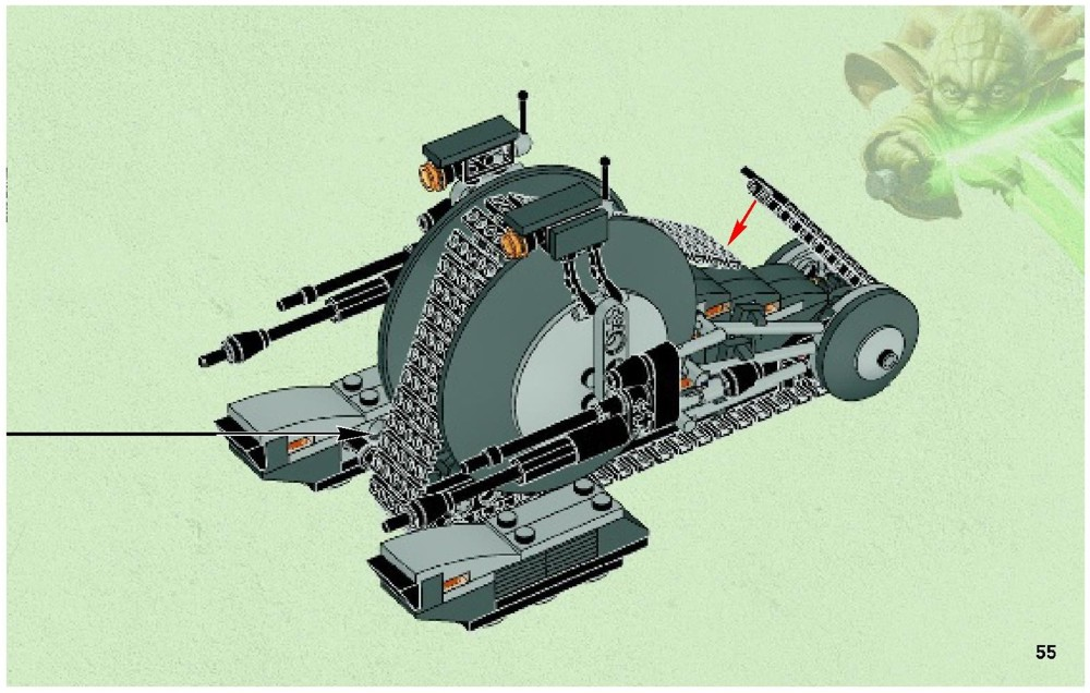 Lego corporate alliance tank droid tm instructions 75015 - Lego star wars vaisseau droide ...