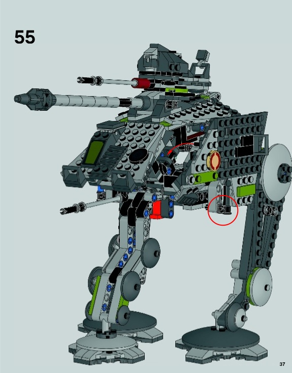 LEGO AT-AP Instructions 75043, Star Wars Episode 3