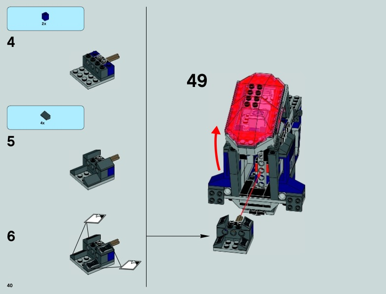 LEGO Coruscant Police Gunship Instructions 75046, Star ...