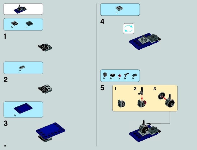 lego clone gunship instructions